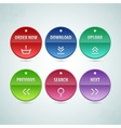 Web circle button set vector