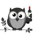 Owl drunk vector