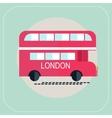London bus icon flat vector