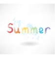 Lettering summer grunge icon vector
