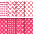 Set of seamless romantic love patterns vector