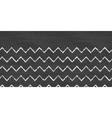 Chalk chevron blackboard horizontal border vector