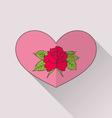 Celebration romantic heart with flower rose for vector