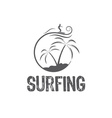 Surfing design template vector