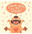 Card happy fathers day with a funny puppy vector