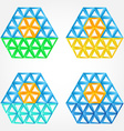 Abstract sun icons made by triangles - sun symbol vector