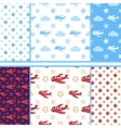 Set of seamless baby patterns vector