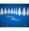 Simple christmas paper trees vector