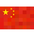 China flag original proportion and colors vector