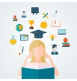 Student with book vector