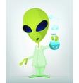 Cartoon science alien vector