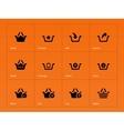 Shopping basket icons on orange background vector