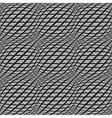 Design seamless monochrome warped grid pattern vector
