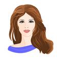 Girl young brown hair vector