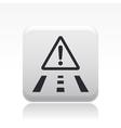 Danger road icon vector