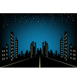 City at night landscape background vector