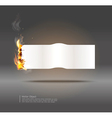 Glowing paper banner vector