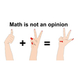 The math does not lie one plus two equals three vector