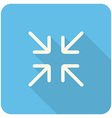 Exit full screen icon vector