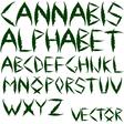 Cannabis alphabet vector
