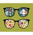Patterned glasses vector