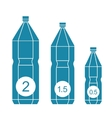 Set of isolated water bottle icons vector