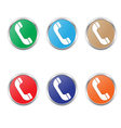 Phone icon color set vector
