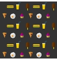 Background for fast food vector