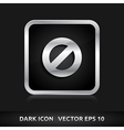 Ban icon silver metal vector