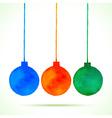Watercolor hand drawn christmas balls vector
