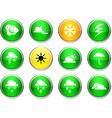 Weather round icons vector