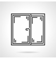 Window black line icon vector