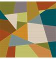 Retro geometric background vector