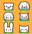 Cute little animal set vector