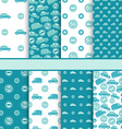 Set of seamless toy cars patterns - pattern for vector