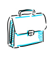 Office bag sketch vector