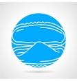 Mussel abstract round icon vector