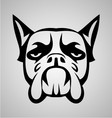 Dog face tribal vector