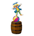 A clown showing some tricks vector