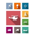 Flat transportation icons set vector