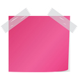 Pink post it vector