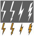 Flat lightning signs vector