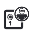 Bank thief icon vector