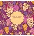 Sweet grape vines frame seamless pattern vector