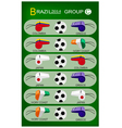 Soccer tournament of brazil 2014 group c vector