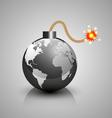 World crisis bomb icon vector