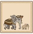 Ethnic elephant indian style vector