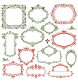 Set of decorative christmas frames and labels vector