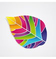 Isolated colored leaf vector