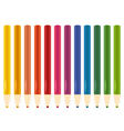 Colorful pastel crayons set isolated on white vector